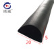 Factory direct customizable EPDM foam d shaped rubber sealing strip for cabinets.