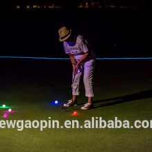 Low carbon night play LED 3 piece tournament golf ball for professional golfer