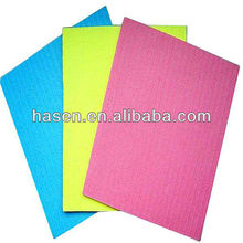 4mm Wet or dry cellulose sponge cloth use in kitchen wipes