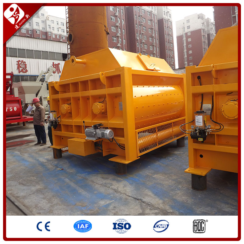 Js3000 Automatic Electric Motor Forced Twin Horizontal Shaft Large Capacity Weigh Batching Concrete Mixer Machine For Sale