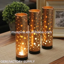 High technology newly design 4 inch glass candle holders