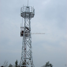 4 legged galvanized steel tower used in telecom