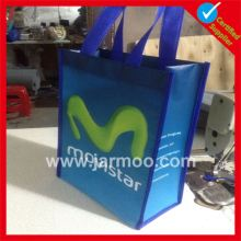 Custom beautiful decoration Top Quality large reusable shopping bags with plastic handle