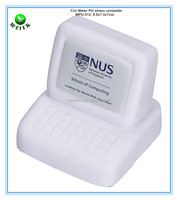 8.5x7.3x7cm promotional gifts PU foam stress reliever computer shape