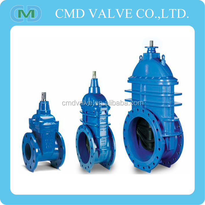 Resilient Soft Seated ANSI 125 150 Non Rising Spindle 6 Inch Water Gate Valve