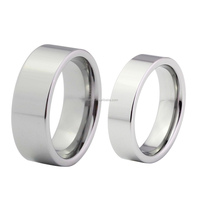 Pipe cut tungsten ring all polished