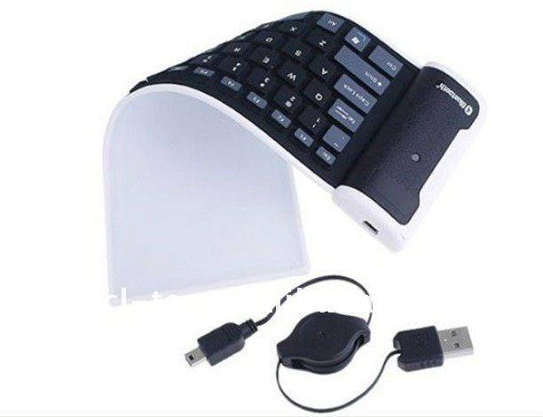 Mini Wireless Bluetooth Foldable Keyboard For PC iPhone-85key