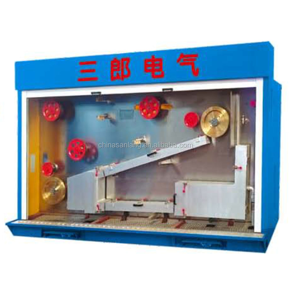 copper wire factory making low price drawing and annealer machine