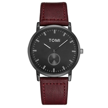 Tomi Top Brand High Quality 2017 Simple Dress Leather Watchband Quartz Wristwatch Fashion Creative Male Clock Watches Men