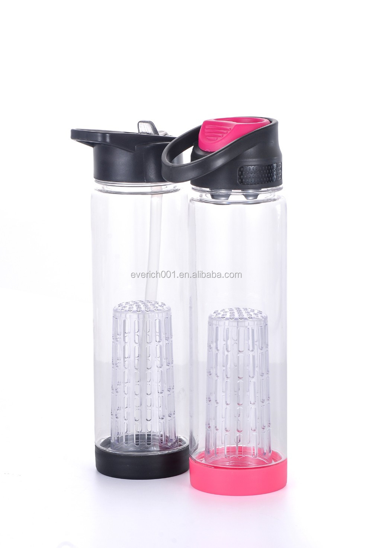 everich new design 750ml plasitc fruit infuser water bottle with infuser buy infuser water. Black Bedroom Furniture Sets. Home Design Ideas