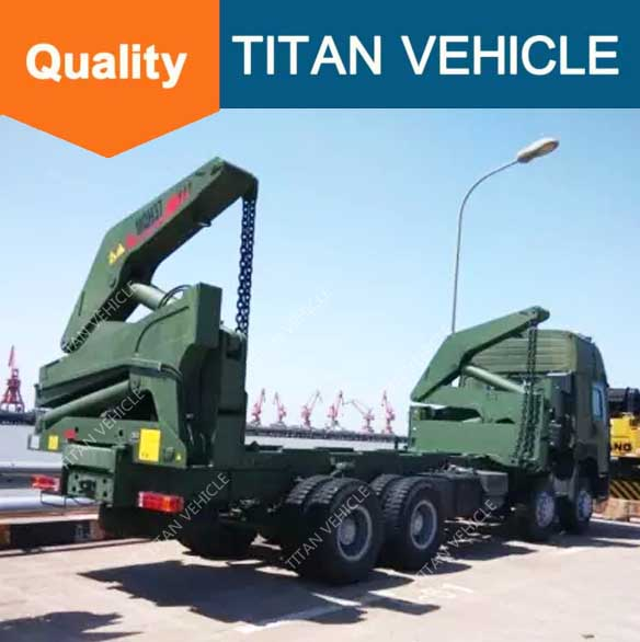 side loaders truck container , self loading container truck , Side Loader Container Truck