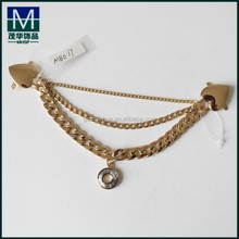 MB017 Hot sale rhinestone ornaments shoe buckle metal accessories for women boots