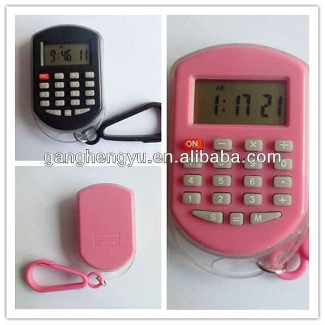 Colorful promotional electronic watch with calculator
