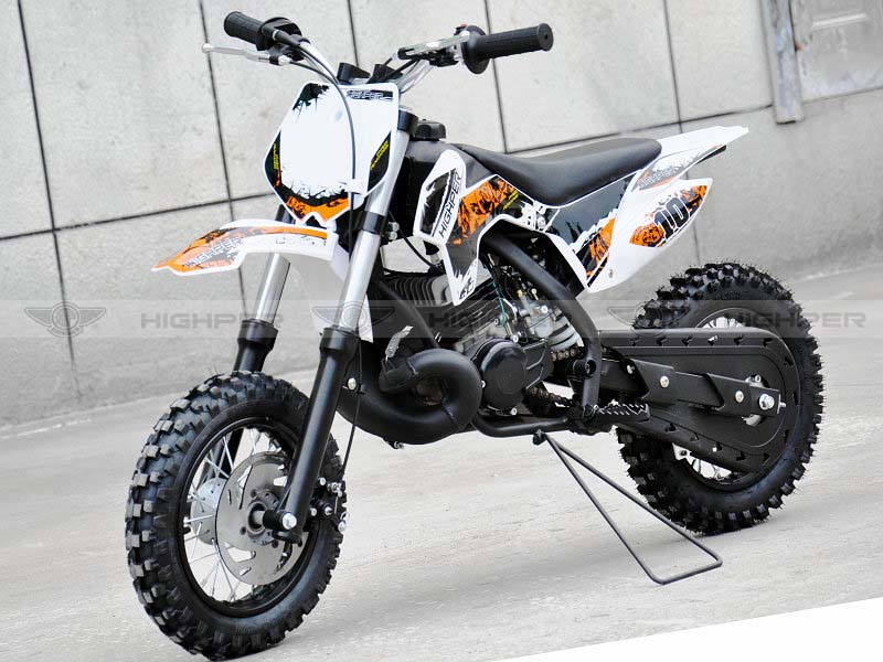 9.0HP! 50cc 2 stroke Kick Start Pit Bike with KTM engine DB502A