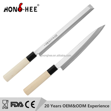 5CR15MOV Japanese Sushi Knife Slicer knives with nature wooden handle