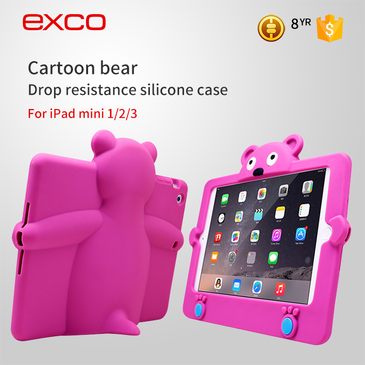 EXCO hot sale soft colorful Silicone Bumper case for ipad Tablet
