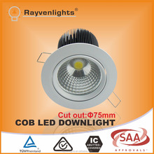 15W Epistar dimmable 0-100% Round LED recessed downlight