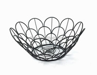 hot sale kitchen fruit and vegetable basket black coated