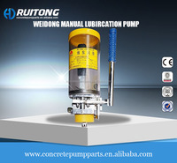 Weidong manual lubircation pump for concre pump construction machinery parts automatic lubricator grease