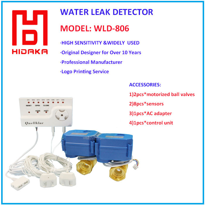 underground water detection Wired shut off valve Top quality Detecting Leakage for Water leak alarm