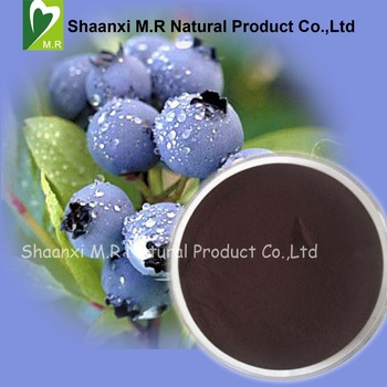 factory supply pure natural blueberry extract powder/bilberry extract
