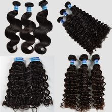 Mona Hair 8A grade double weft full cuticle body wave all kinds texture Brazilian human hair