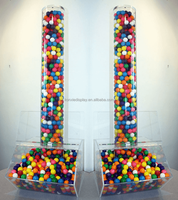 factory custom new design tall tube acrylic candy dispenser