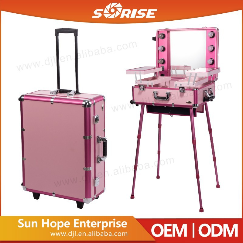 Sunrise Cheap Beautiful Aluminium Trolley Pilot Case