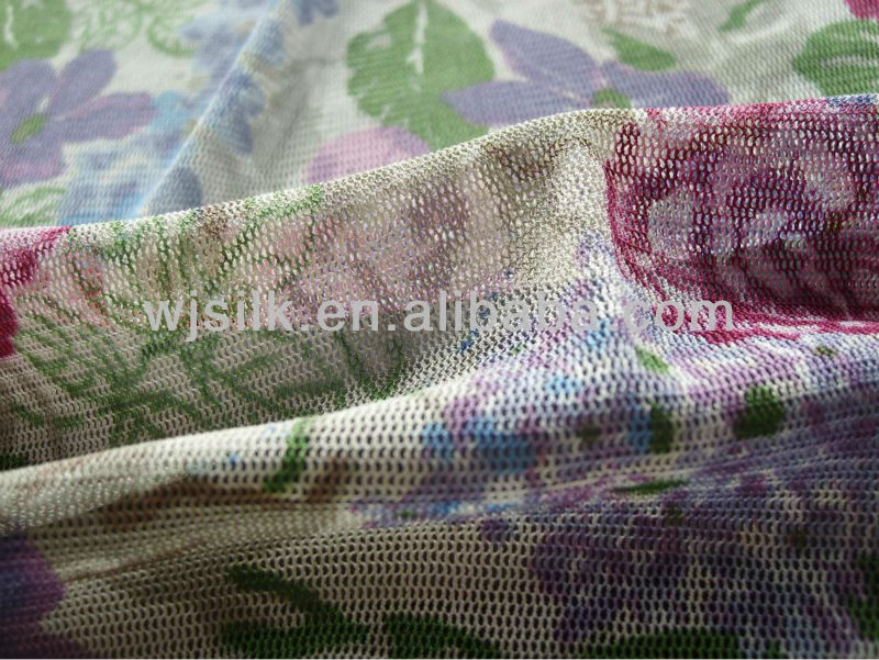 100%silk net fabric