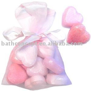 Colorful shape pink bath fizzer gift set