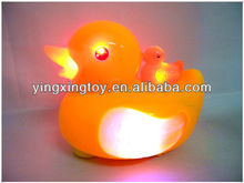Plastic all direction battery operated flashing duck toy