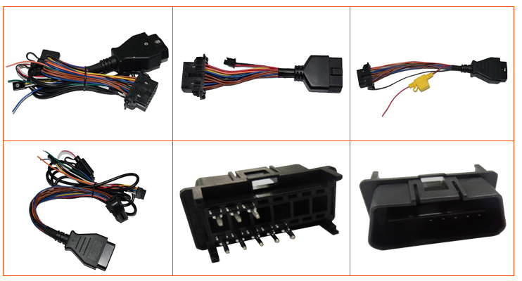 Custom made obd connector , obd connector truck , obd female to male connector manufacture