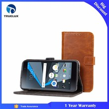 Fast Shipping Crazy Horse Leather Wallet Case for BlackBerry DTEK50 Leather Case With Card Stand Holster