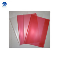 Colored transparent clear PVC plastic book cover