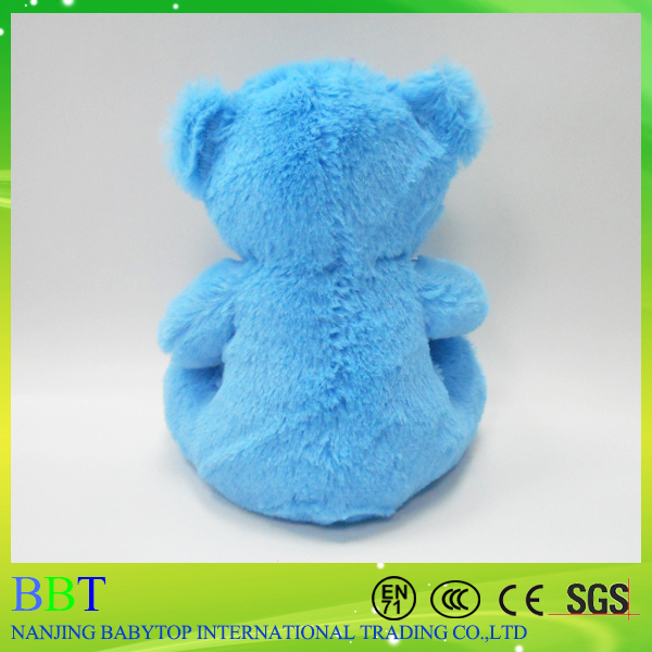 Big Eyed Blue Popular Bear toys For Kids With Heart Decoration