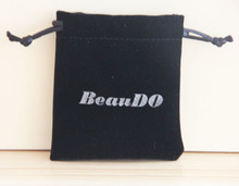 custom velvet key chain bag with logo
