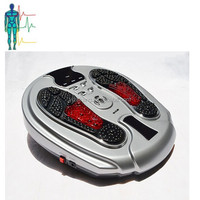 Hot Sale Electromagnetic wave foot massager/infrared foot reflexology machine with pulse pad