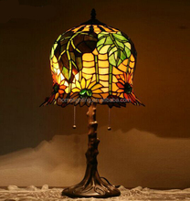 TF-9082 hot sale tiffany glass stained table reading lamp wholesale