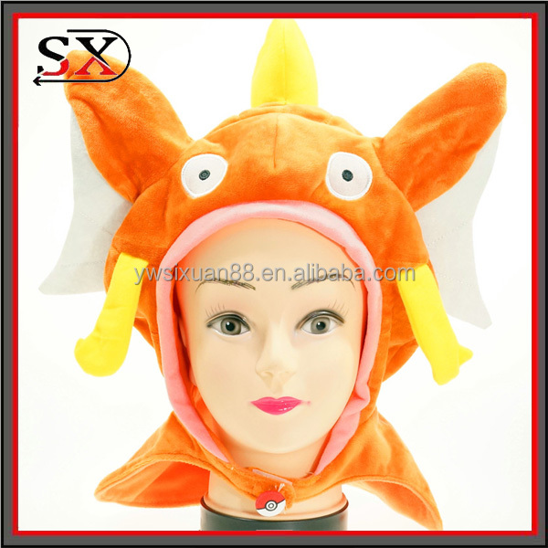Fashion Classic Pokemon Cartoon Design your own knitted hat plush animal head hat