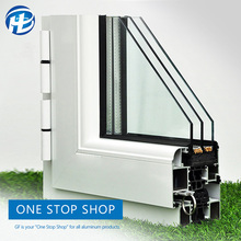 double glass aliplast windows price Aluminum frame house double wall glass window frame for commercial building
