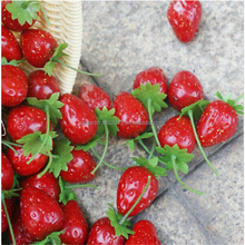 wholesale decorative plastic fake fruit artificial strawberry for home decor