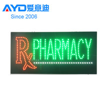 led acrylic sign,led open sign,led rx pharmacy indoor sign