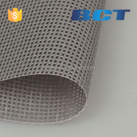 PVC coated polyester mesh fabric BCTB1212/280g for truck cover black B1 UV-protection