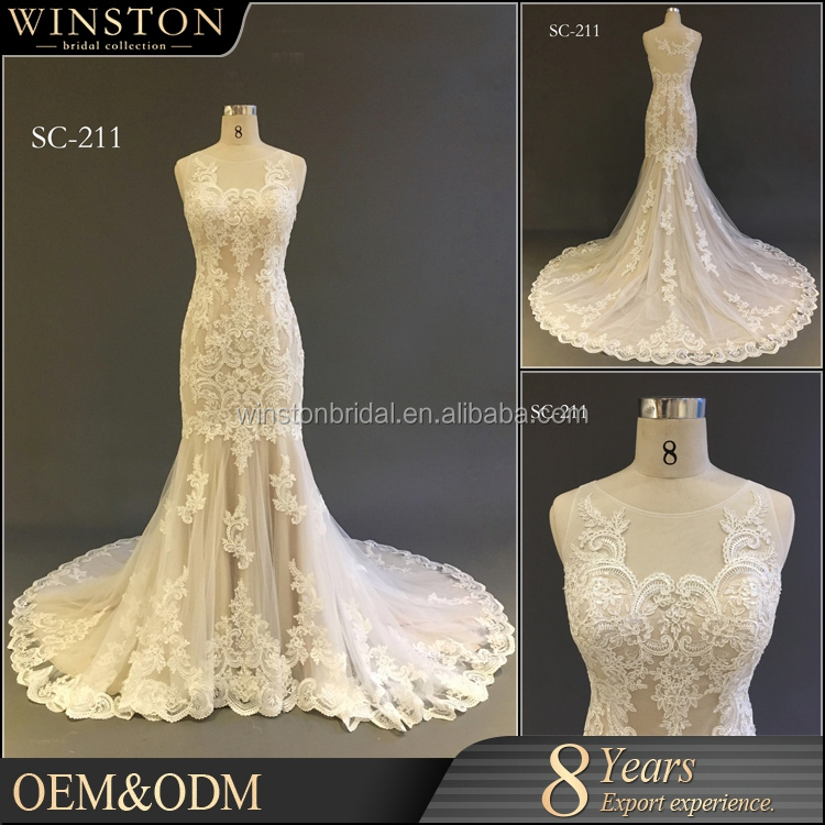 High quality Latest Design ladies lace alibaba mermaid wedding dresses white colors best Bride wedding Dress