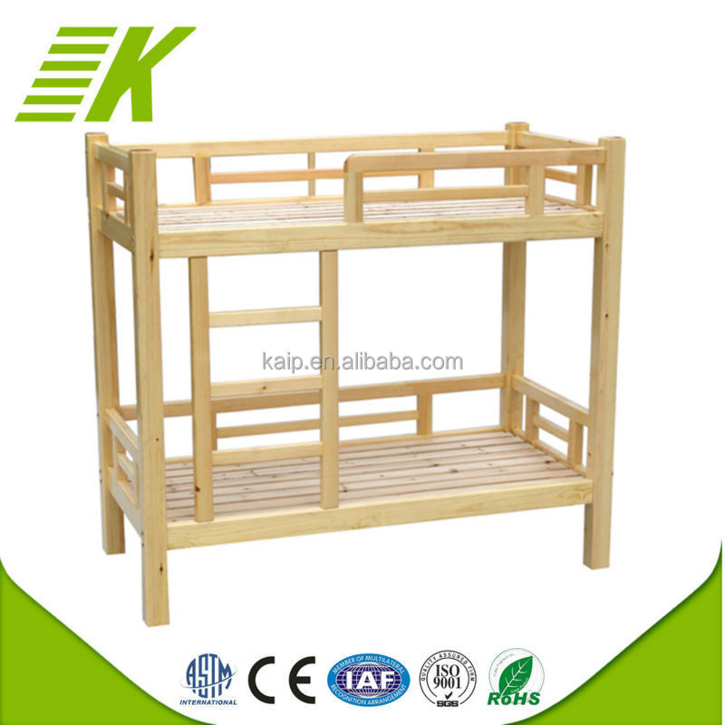 Wholesale fashionable kids wood double deck bunk bed