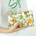 Hotsale cheap fashion printing flower PU cosmetic bag Multifunctional travel wash PU cosmetic bag
