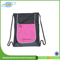 Wholesale Price Polyester Drawstring Bag With Zipper Front Pocket