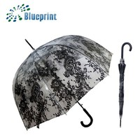 bubble shape straight auto open metal strengthened bell umbrella