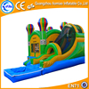 Laster craze funny and safe inflatable bouncy castle with water slide