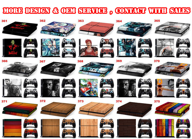 Skin Sticker Skin Wrap Cover For PS4 Console and Controller